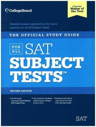 The Official Study Guide for All SAT Subject Tests, w. 2 Audio-CDs
