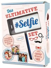 Das ultimative Selfie-Set, m. ausziehbarem Selfie-Stab u. 12 Requisiten