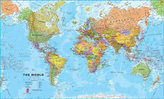 Freytag Berndt Huge World Map, political, laminiert