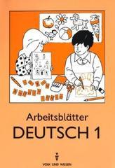 Arbeitsblätter Deutsch. Tl.1