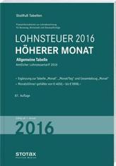 Lohnsteuer 2016 Höherer Monat