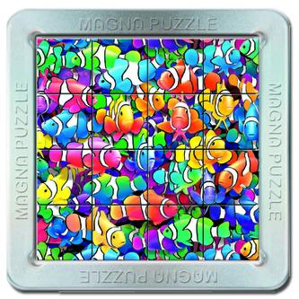Puzzle 16 d. 3D Magnetické puzzle Rybičky