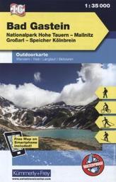 Kümmerly & Frey Outdoorkarte Österreich - Bad Gastein