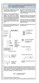 Form- und Lagetolerierung nach DIN EN ISO 1101, Falttafel