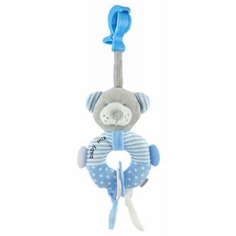 Edukační plyšová hračka s klipem Baby Mix medvěd modrý