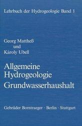 Allgemeine Hydrogeologie, Grundwasserhaushalt
