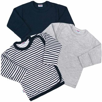 Kojenecká košilka New Baby Classic II Kluk 3ks - velikost 56 (0-3m)