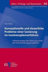 Konzeptionelle und steuerliche Probleme einer Sanierung im Insolvenzplanverfahren