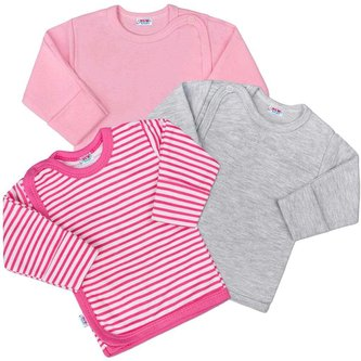 Kojenecká košilka New Baby Classic II Holka 3ks - velikost 56 (0-3m)