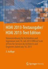 HOAI 2013-Textausgabe. HOAI 2013-Text Edition, Deutsch-Englisch