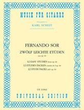 12 leichte Etüden aus op. 60 für Gitarre