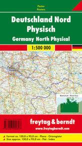 Freytag & Berndt Poster Deutschland Nord, ohne Metallstäbe. Germany North