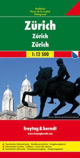 Freytag & Berndt Stadtplan Zürich. Zurich. Zurigo
