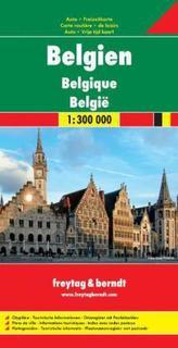 Freytag & Berndt Auto + Freizeitkarte Belgien. Belgique / Belgie