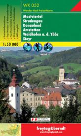 Freytag & Berndt Wander-, Rad- und Freizeitkarte Mostviertel, Strudengau, Donauland, Amstetten, Waidhofen a. d. Ybbs, Steyr