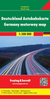 Freytag & Berndt Autokarte Deutschland, Autobahnkarte; Alemania, mapa de autopistas. Duitsland wegenkaart; Germany, motorway map