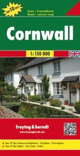 Freytag & Berndt Autokarte Cornwall, Top 10 Tips 1:150.000. Cornualles. Cornouailles