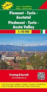 Freytag & Berndt Auto + Freizeitkarte Piemont, Turin, Aostatal. Piedmont, Turin, Aosta Valley. Piemonte, Torino, Valle d' Aosta;