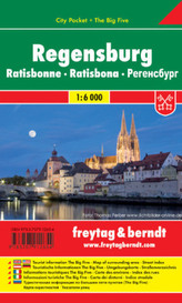 Freytag & Berndt Stadtplan Regensburg. Ratisbonne. Ratisbona