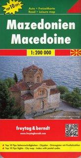 Freytag & Berndt Autokarte Mazedonien. Makedonija. Macedonie. Macedoine. Macedonia