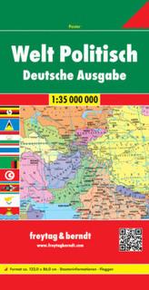 Freytag & Berndt Poster Welt, politisch, Deutsche Ausgabe, gefalzt