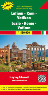 Freytag & Berndt Autokarte Latium, Rom, Vatikan. Lazio, Rome, Vatican