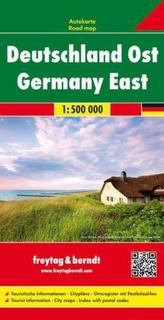 Freytag & Berndt Autokarte Deutschland Ost 1:500.000. Germany East