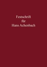Festschrift für Hans Achenbach