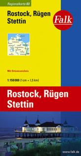 Falk Plan Rostock, Rügen, Stettin