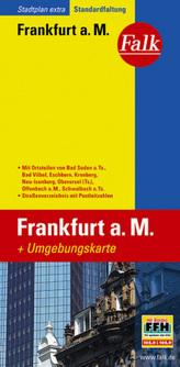 Falk Plan Stadtplan Extra Standardfaltung Frankfurt am Main 1:20 000