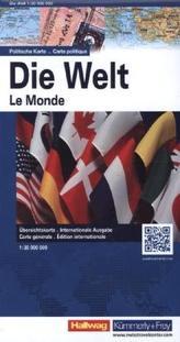 Hallwag Karte Die Welt, politische Karte. Le monde, Carte politique