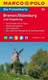 Die Freizeitkarte Bremen, Oldenburg und Umgebung