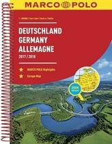 Německo, Evropa/atlas-spirála 17/18  1:300T MD