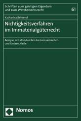 Nichtigkeitsverfahren im Immaterialgüterrecht