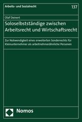 Soloselbstständige zwischen Arbeitsrecht und Wirtschaftsrecht