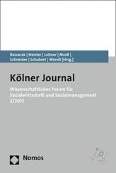 Wissenschaftliches Forum für Sozialwirtschaft und Sozialmanagement 2/2015. Nr.2/2015