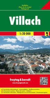 Freytag & Berndt Stadtplan Villach. Villaco