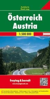 Freytag & Berndt Autokarte Österreich. Austria. Autriche