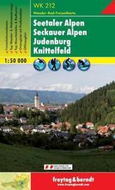 Freytag & Berndt Wander-, Rad- und Freizeitkarte Seetaler Alpen, Seckauer Alpen, Judenburg, Knittelfeld