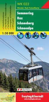 Freytag & Berndt Wander-, Rad- und Freizeitkarte Semmering, Rax, Schneeberg, Schneealpe