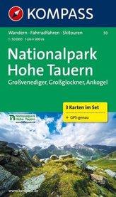 Kompass Karte Nationalpark Hohe Tauern, 3 Bl.