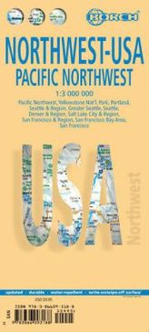 Borch Map Northwest-USA, Pacific Northwest.