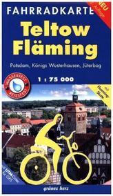 Fahrradkarte Teltow, Fläming