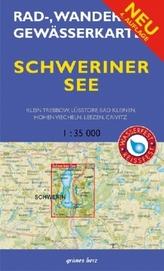 Rad-, Wander- & Gewässerkarte Schweriner See