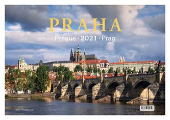 Kalendář stolní 2021 - Praha / Prague / Prag 13,5 x 19,7 cm