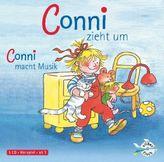Conni zieht um / Conni macht Musik, 1 Audio-CD