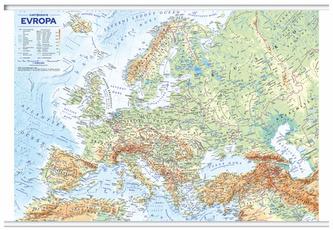 Evropa nástěnná obecně zeměpisná mapa