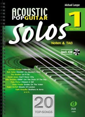 Acoustic Pop Guitar Solos, m. Audio-CD. Bd.1 - Langer, Michael