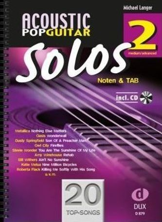 Acoustic Pop Guitar Solos, m. Audio-CD. Bd.2 - Langer, Michael