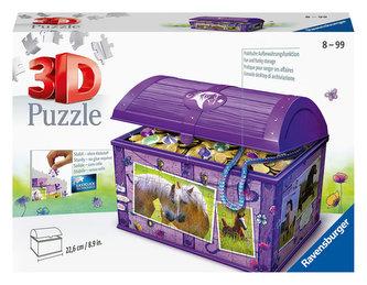 Puzzle 3D Úložná krabice s víkem Kůň/216 dílků